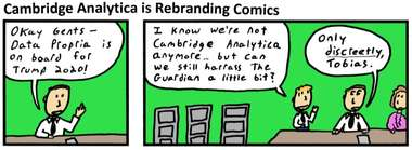 Cambridge Analytica is rebranding Comics
