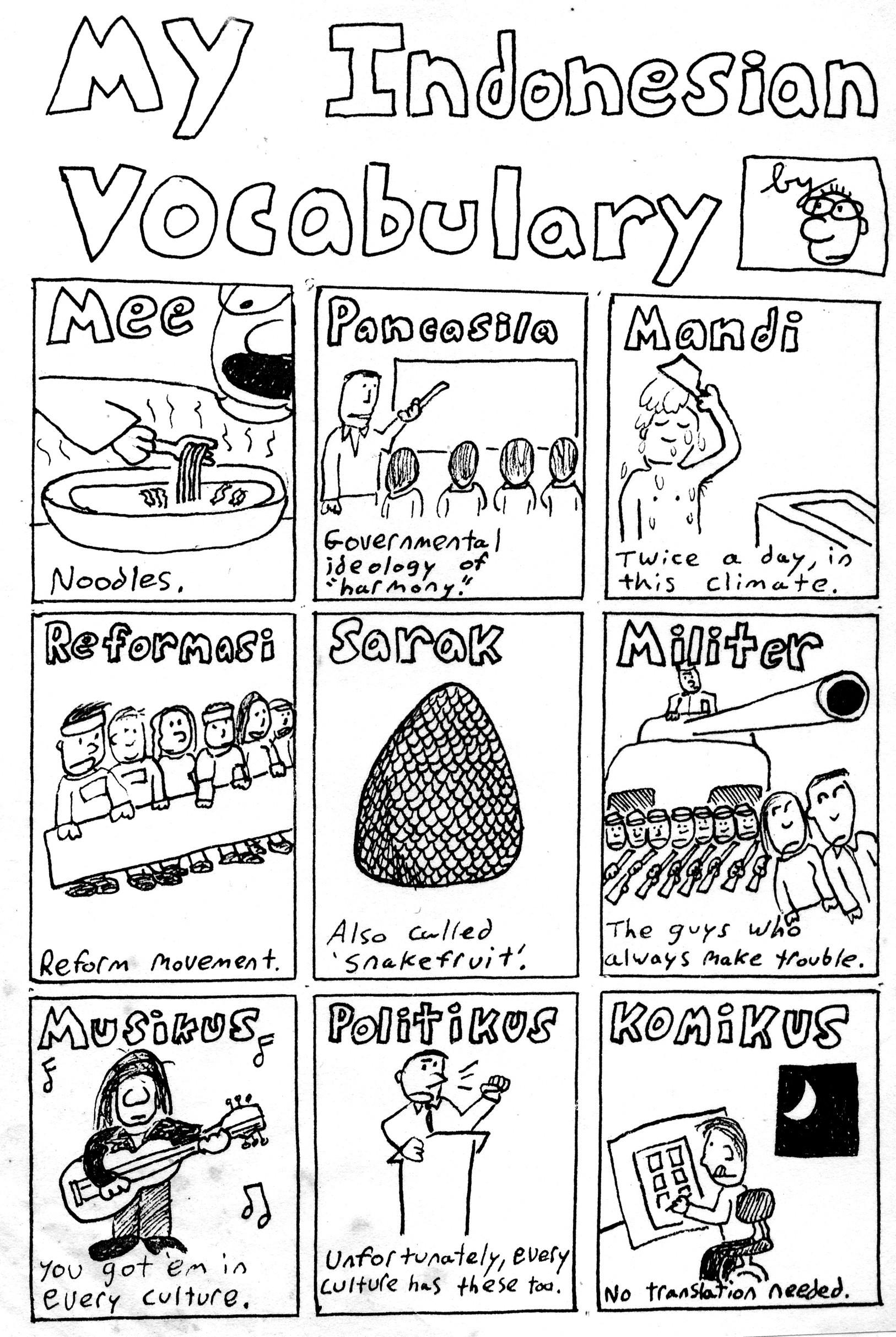 My Indonesian Vocabulary [01]