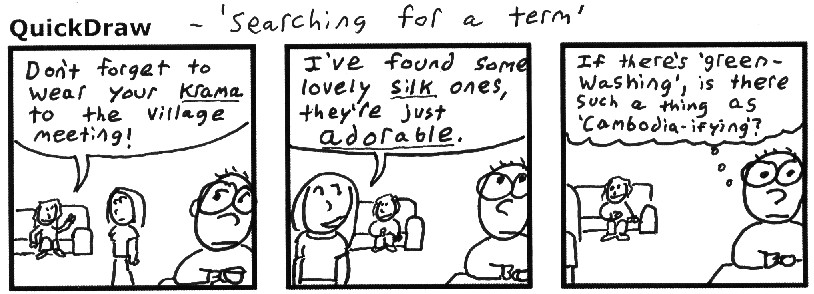 No Barangs were harmed in the making of this comic. I did contemplate spitting into their soy latte.