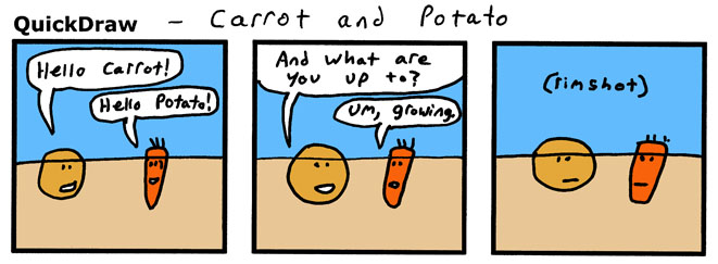 We need a 'Carrot and Potato' theme song.