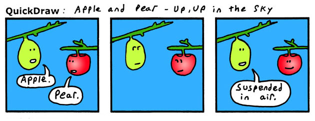 It's a bird! It's a plane! It's a pear!