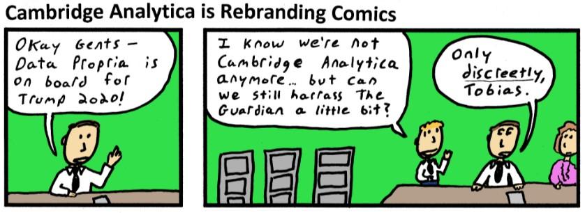 Cambridge Analytica is rebranding Comics